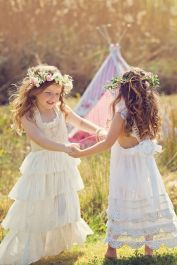 Cute bridesmaid dresses for little girls ideas 11